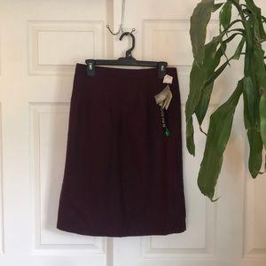 🆕Deadstock vintage purple wool pencil skirt NWT